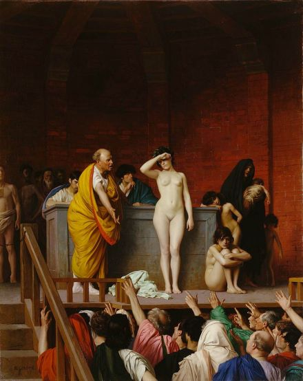 Slave market in ancient Rome by Jean-Léon Gérôme