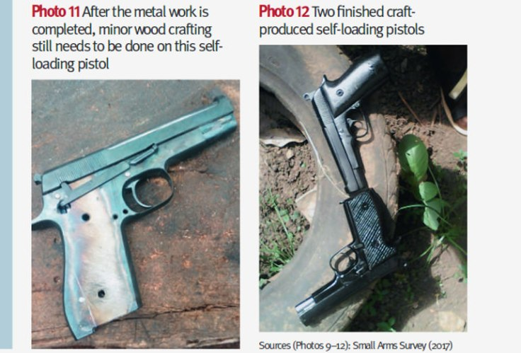 Craft pistols produced by artisans in Nigeria