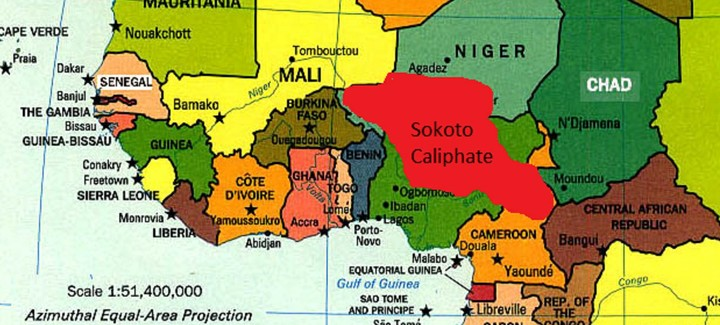Map of the Sokoto Caliphate