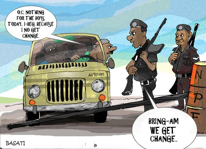 2010_Nigeria Police Cartoon by Basati