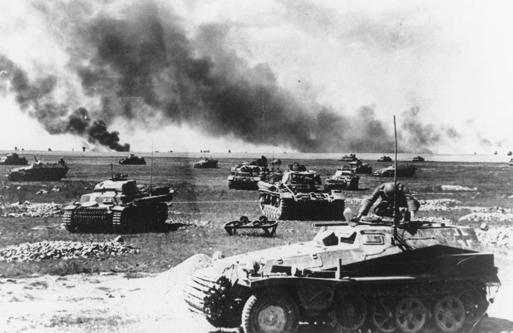 Massed German armour one month into Operation Barbarossa. source The Atlantic AP photo